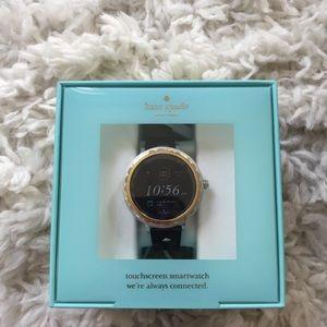 Kate Spade Black Silicone Scallop Smartwatch